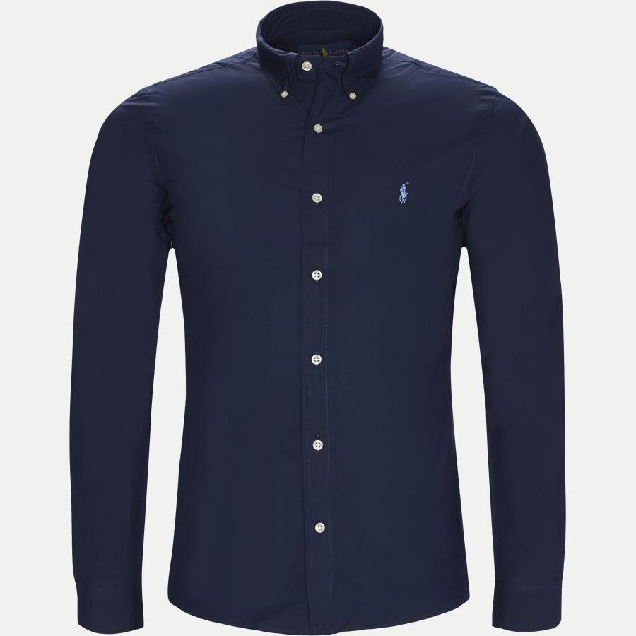 710705269 - Poplin Shirt - Skjorter - Slim - NAVY - 1
