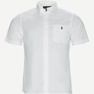 Short Sleeve Seersucker Shirt Slim   Short Sleeve Seersucker Shirt   Hvid