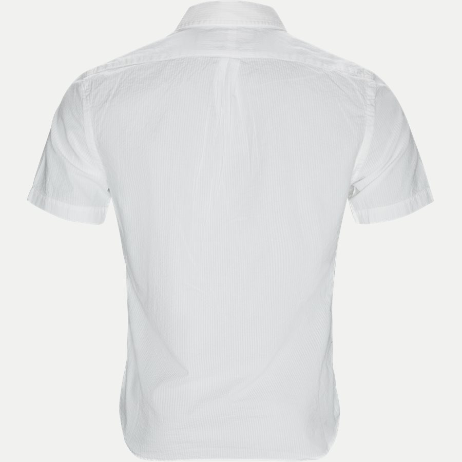 710744866 - Short Sleeve Seersucker Shirt - Skjorter - Slim - HVID - 2