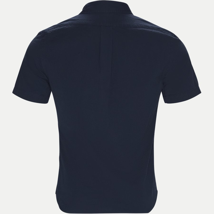 710744866 - Short Sleeve Seersucker Shirt - Skjorter - Slim - NAVY - 2