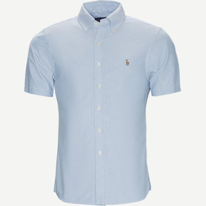 Kortærmet Oxford Skjorte - Kortærmede skjorter - Slim - Blå