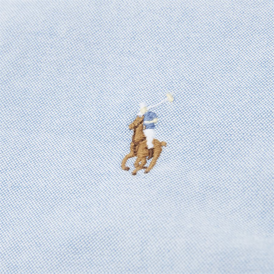 710744938 - Kortærmet Oxford Skjorte - Skjorter - Slim - LYSBLÅ - 5