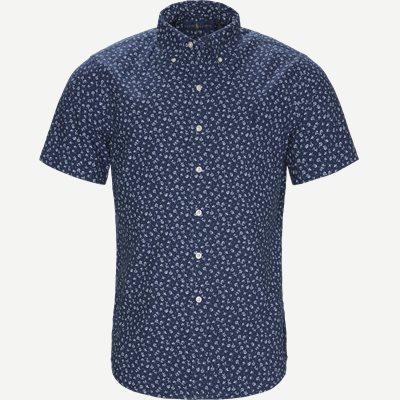 Newport Flower Short Sleeved Shirt Regular | Newport Flower Short Sleeved Shirt | Blå