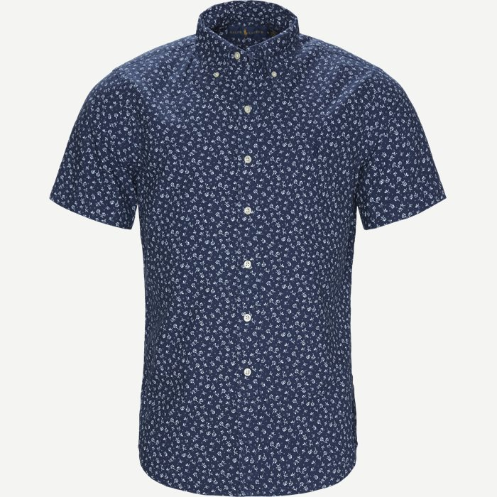 Newport Flower Short Sleeved Shirt - Kortærmede skjorter - Regular - Blå