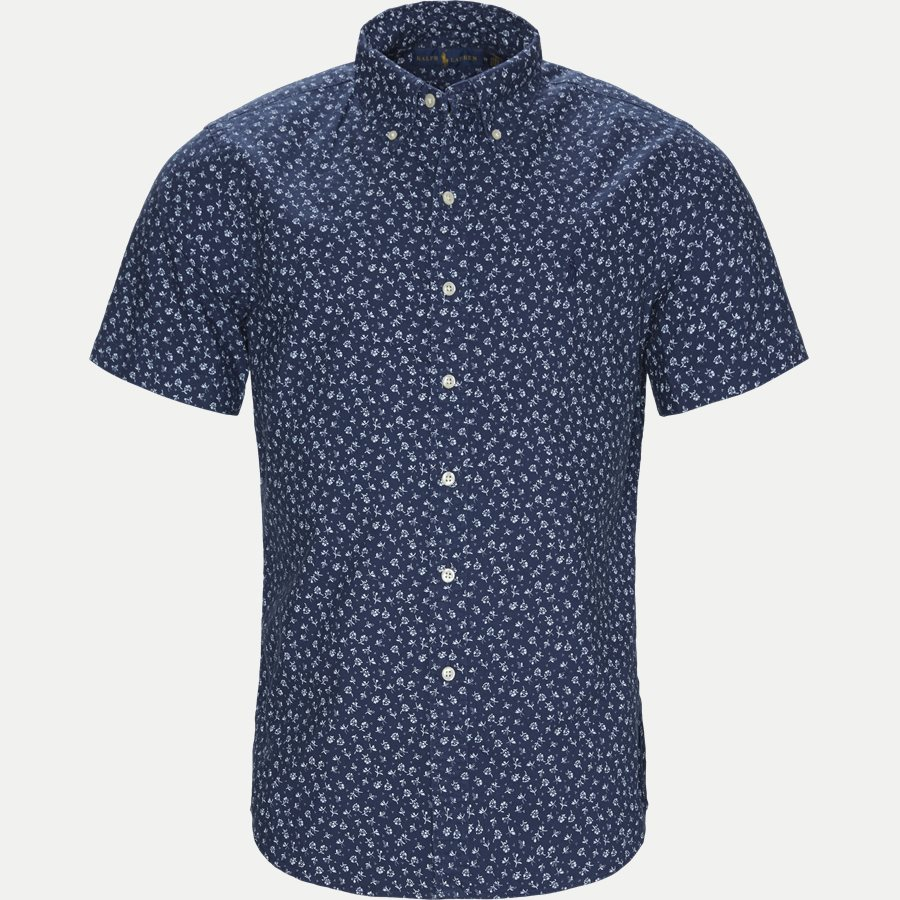 710740851 - Newport Flower Short Sleeved Shirt - Skjorter - Regular - NAVY - 1