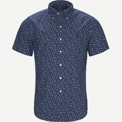 Newport Flower Short Sleeved Shirt Regular | Newport Flower Short Sleeved Shirt | Blå