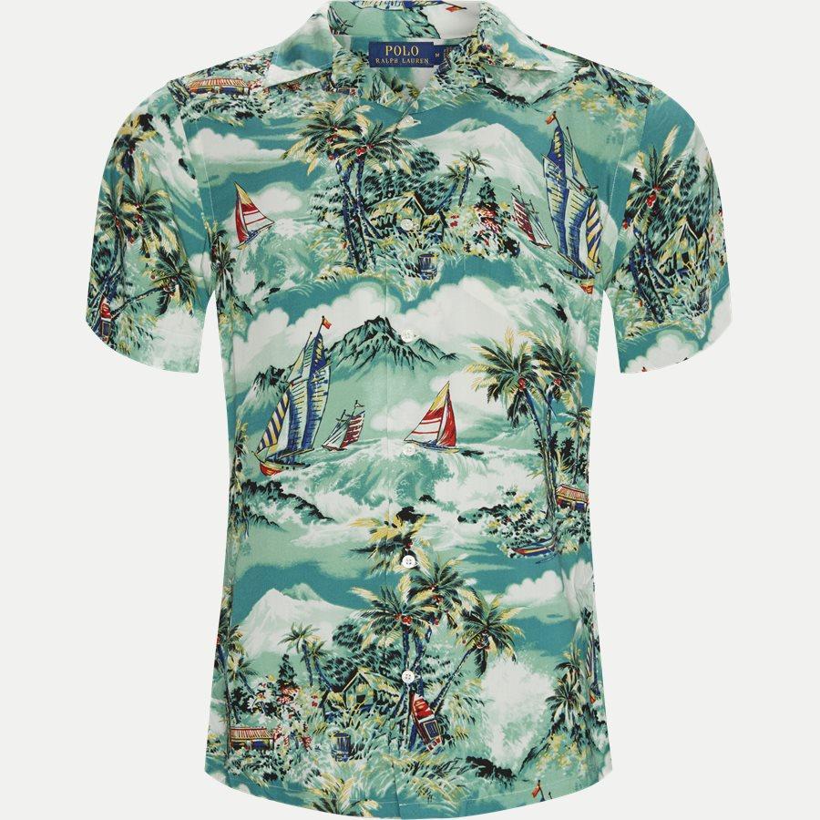 710742191 - Andy Camp Kortærmet Skjorte  - Skjorter - Regular - BLÅ - 1