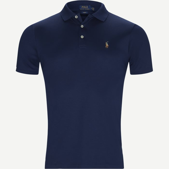 Classic Soft Polo - T-shirts - Slim - Blå