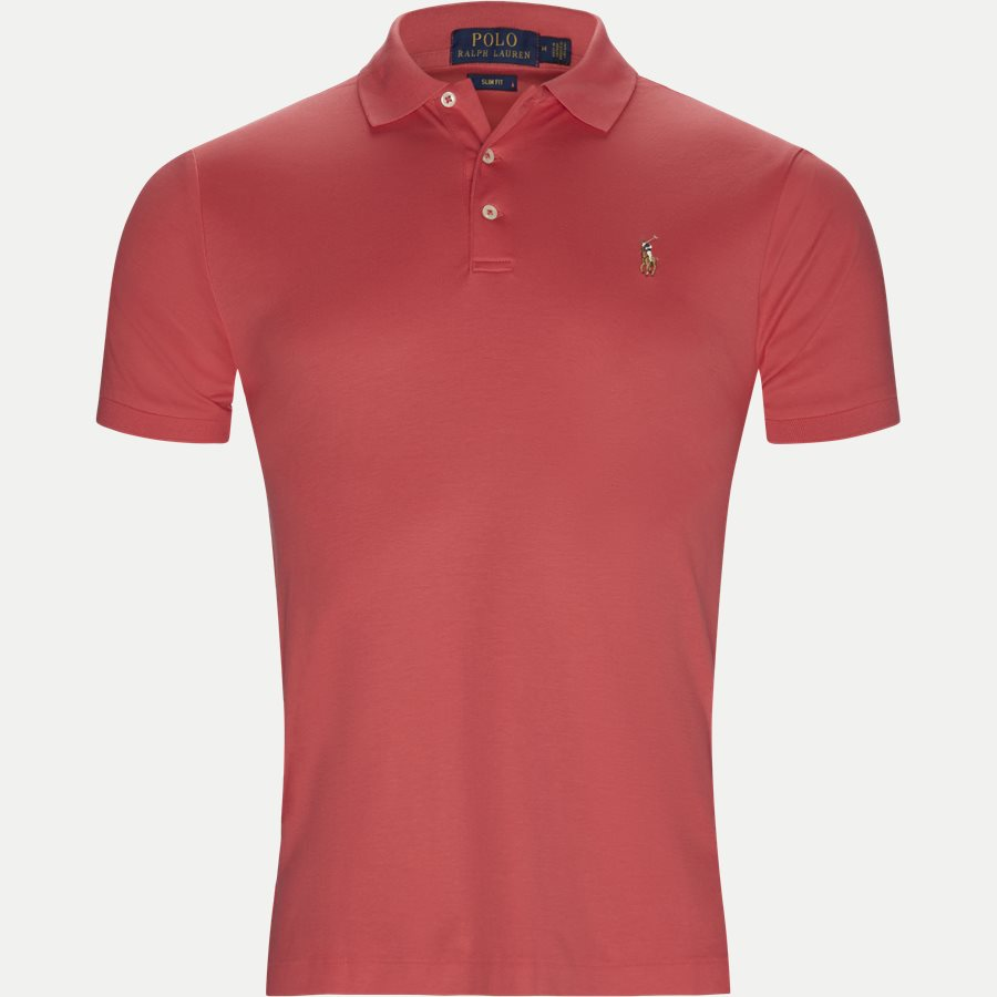 710652578, - Classic Soft Polo - T-shirts - Slim - CORAL - 1