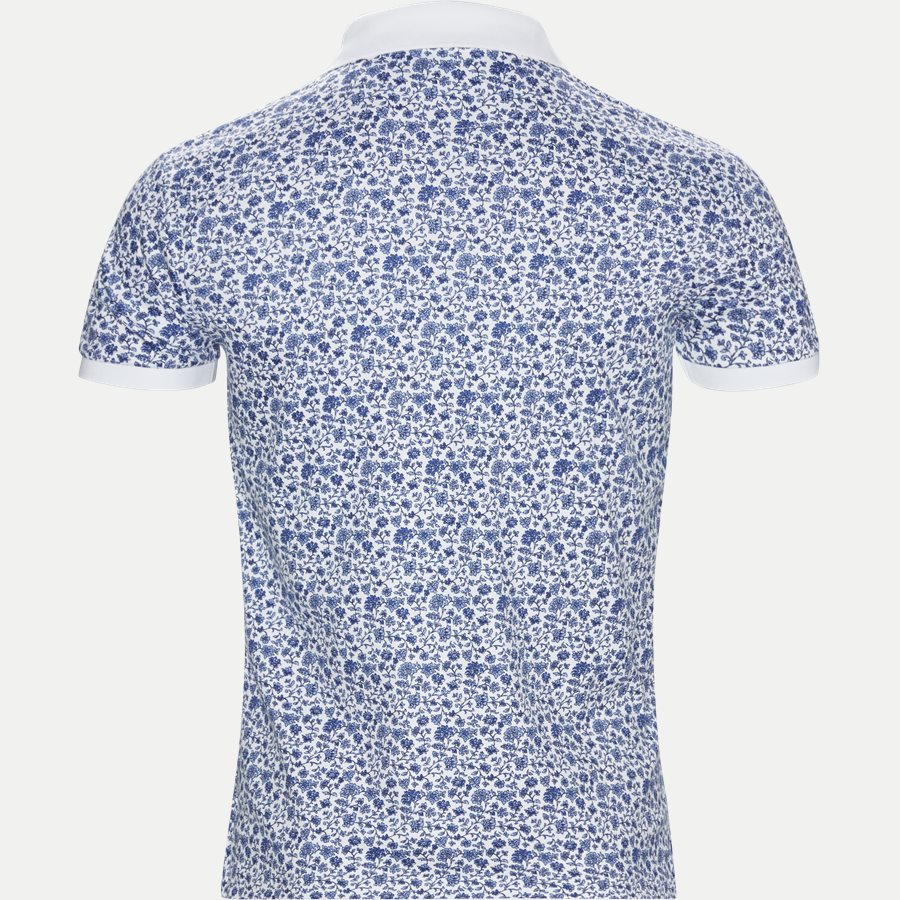 710744899 - Mønstret Polo t-shirt - T-shirts - Slim - HVID - 2