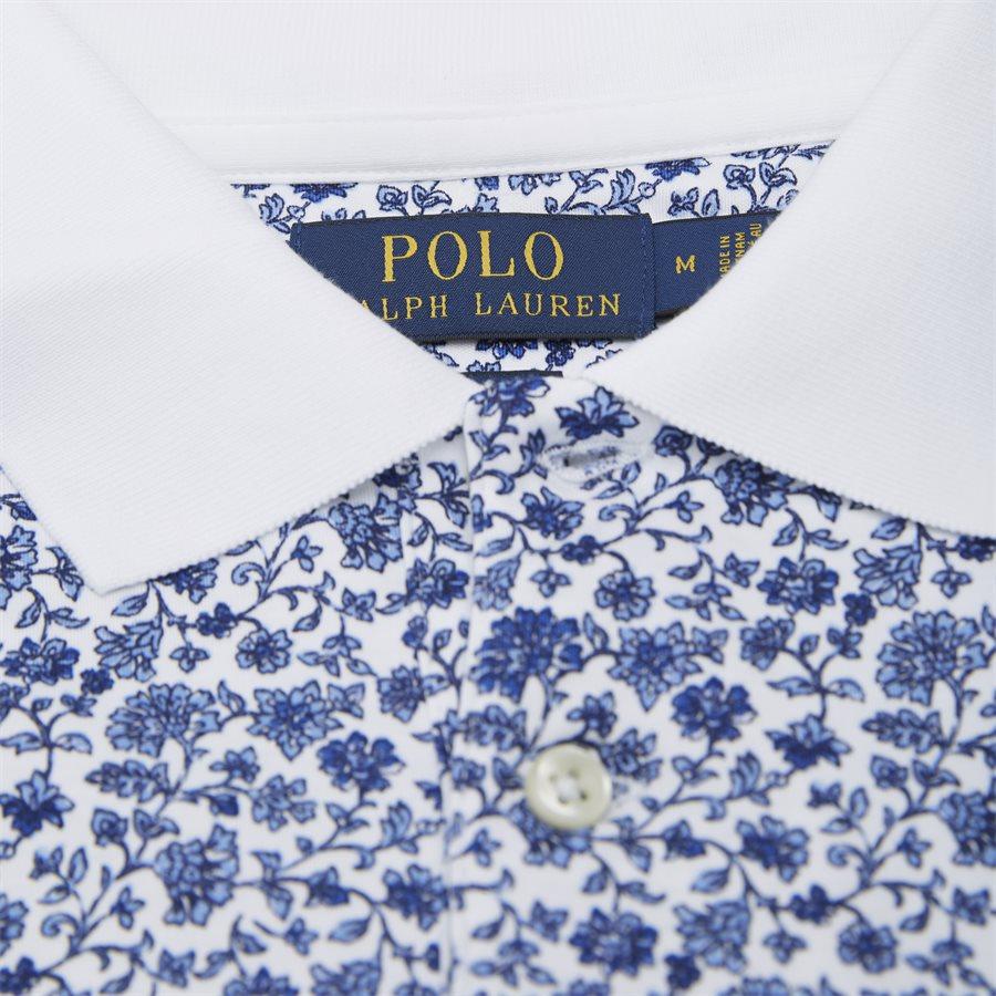 710744899 - Mønstret Polo t-shirt - T-shirts - Slim - HVID - 4