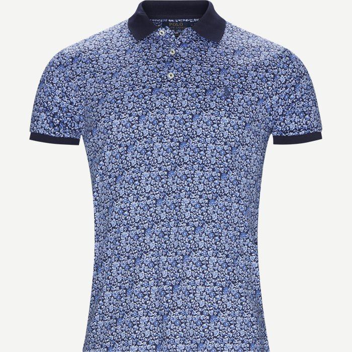 Mønstret Polo t-shirt - T-shirts - Slim - Blå