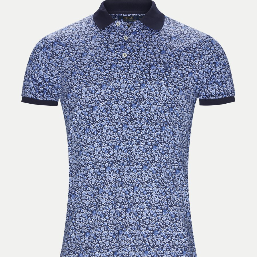 710744899 - Mønstret Polo t-shirt - T-shirts - NAVY - 1