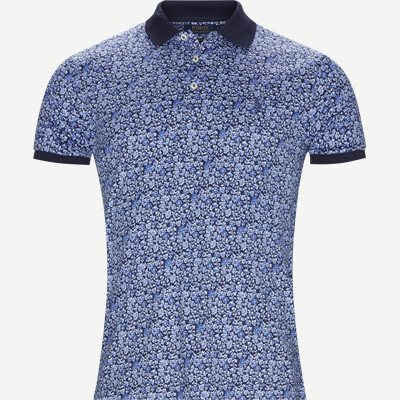 Interlock Polo t-shirt Slim   Interlock Polo t-shirt   Blå
