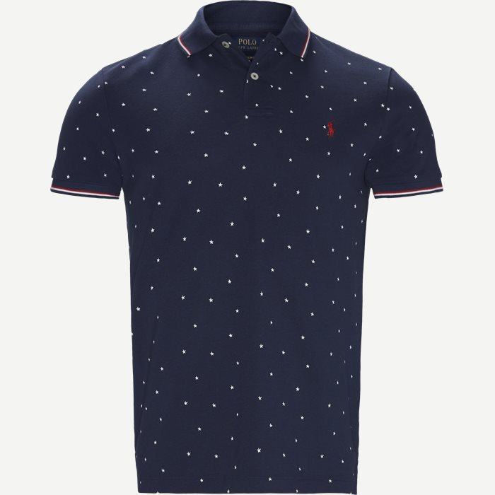 Short Sleeve Pique Polo - T-shirts - Regular slim fit - Denim