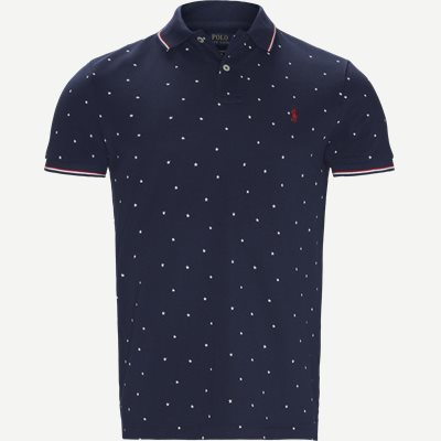 Caribbean Floral Pique Polo Regular slim fit | Caribbean Floral Pique Polo | Denim