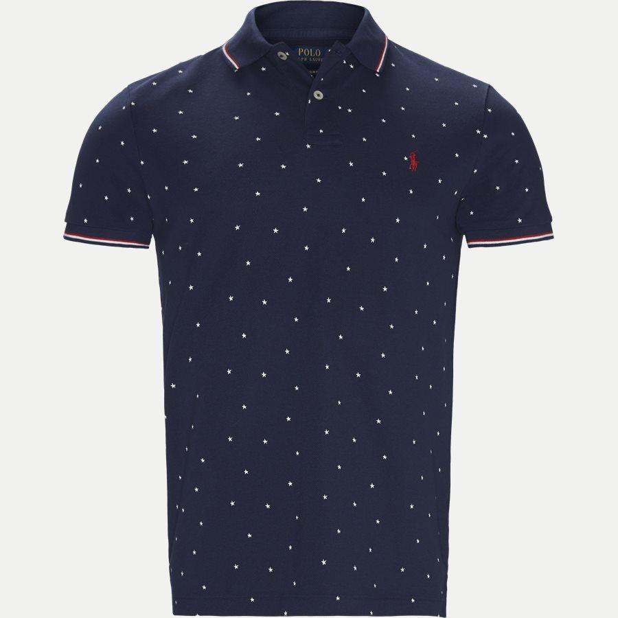 710720813 - Caribbean Floral Pique Polo - T-shirts - Regular slim fit - DENIM - 1