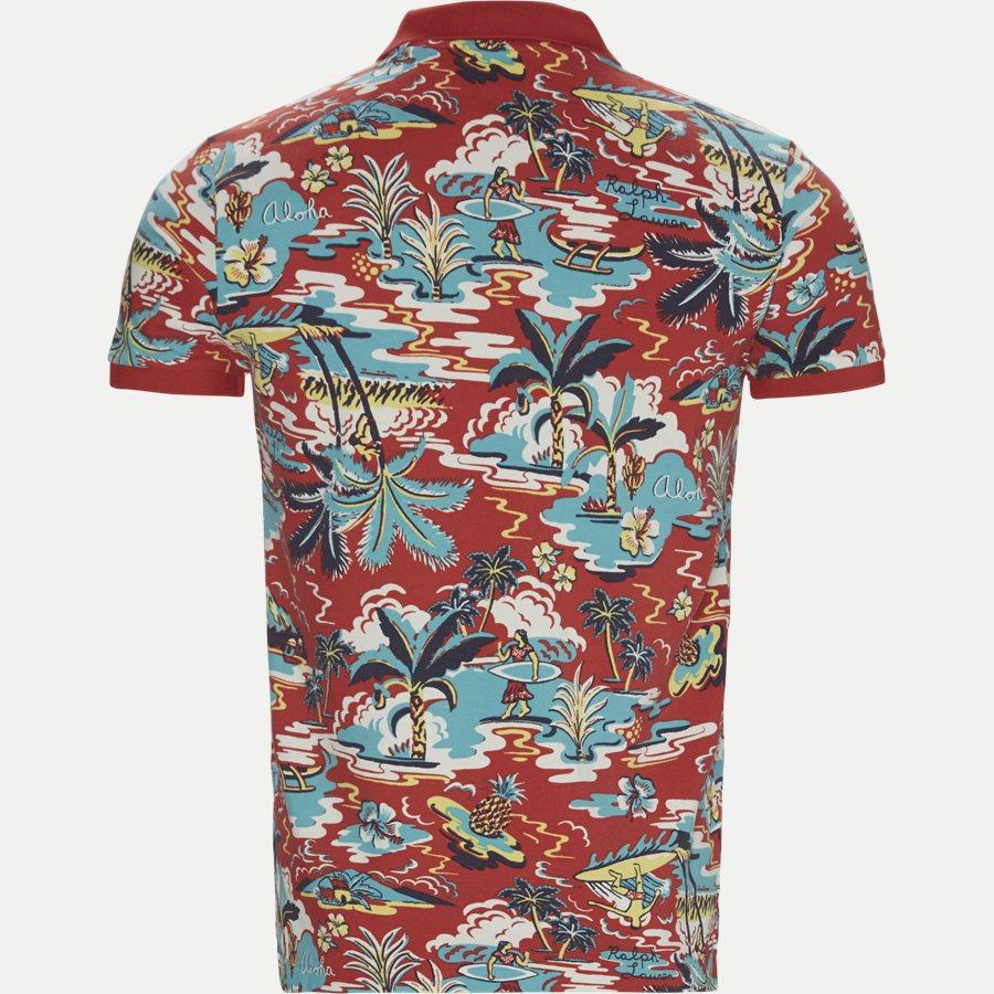 710720813 - Caribbean Floral Pique Polo - T-shirts - Regular slim fit - RØD - 2