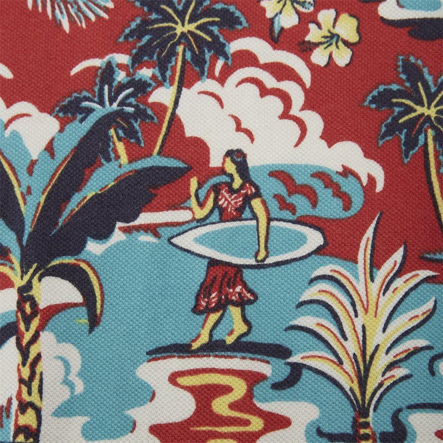 710720813 - Caribbean Floral Pique Polo - T-shirts - Regular slim fit - RØD - 3