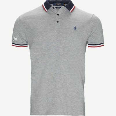 Neck Logo Polo T-shirt Slim | Neck Logo Polo T-shirt | Grå