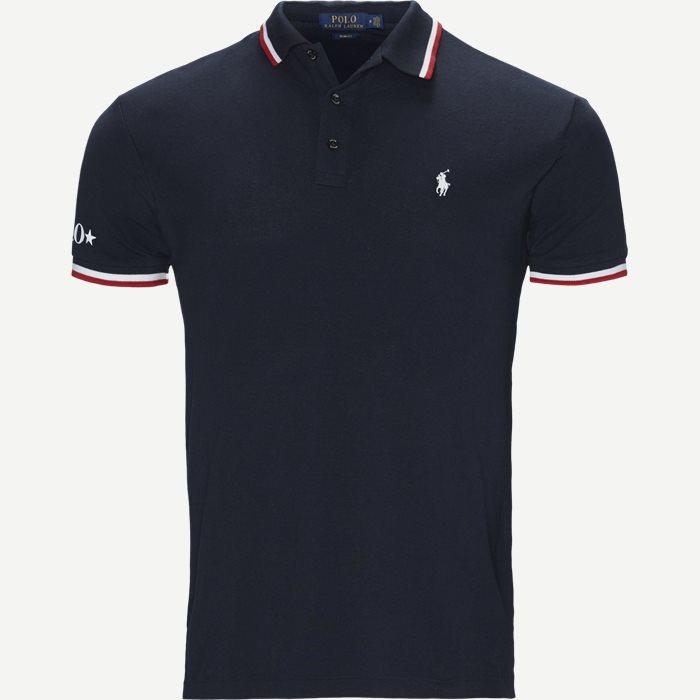 M Classics 1 Polo T-shirt - T-shirts - Slim - Blå