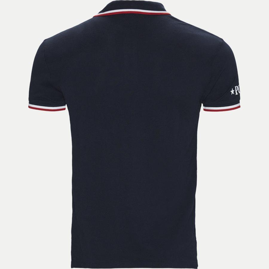 710753174 - Neck Logo Polo T-shirt - T-shirts - Slim - NAVY - 2