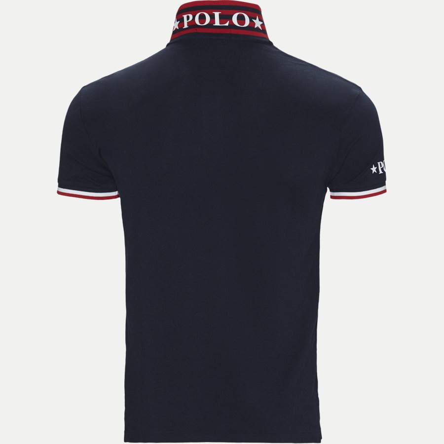 710753174 - Neck Logo Polo T-shirt - T-shirts - Slim - NAVY - 3