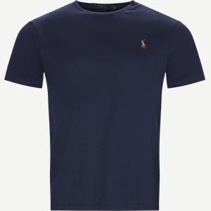 Classic Crew Neck T-shirt Regular slim fit   Classic Crew Neck T-shirt   Blå