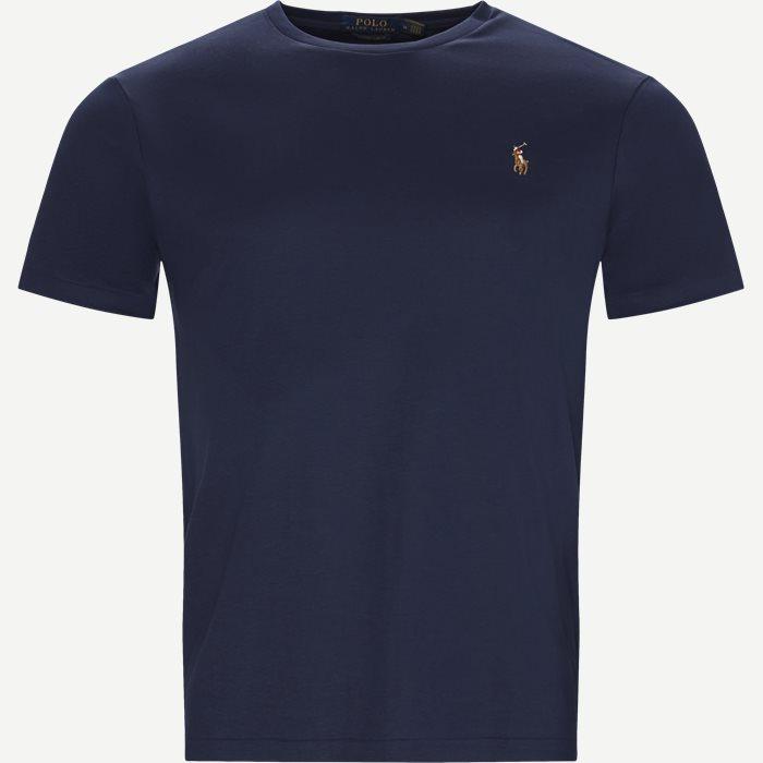 Classic Crew Neck T-shirt - T-shirts - Regular slim fit - Blå