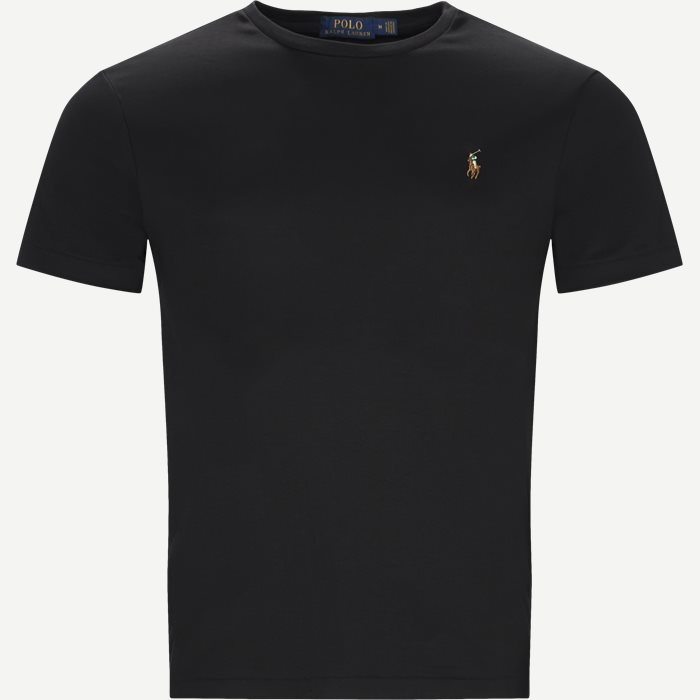 Classic Crew Neck T-shirt - T-shirts - Regular slim fit - Sort