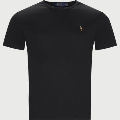 Classic Crew Neck T-shirt Regular slim fit | Classic Crew Neck T-shirt | Sort