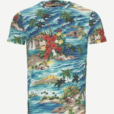 Tropical T-shirt Regular slim fit   Tropical T-shirt   Blå