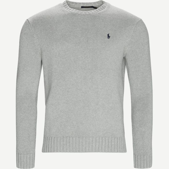 Crew Neck Jumper - Strik - Regular - Grå