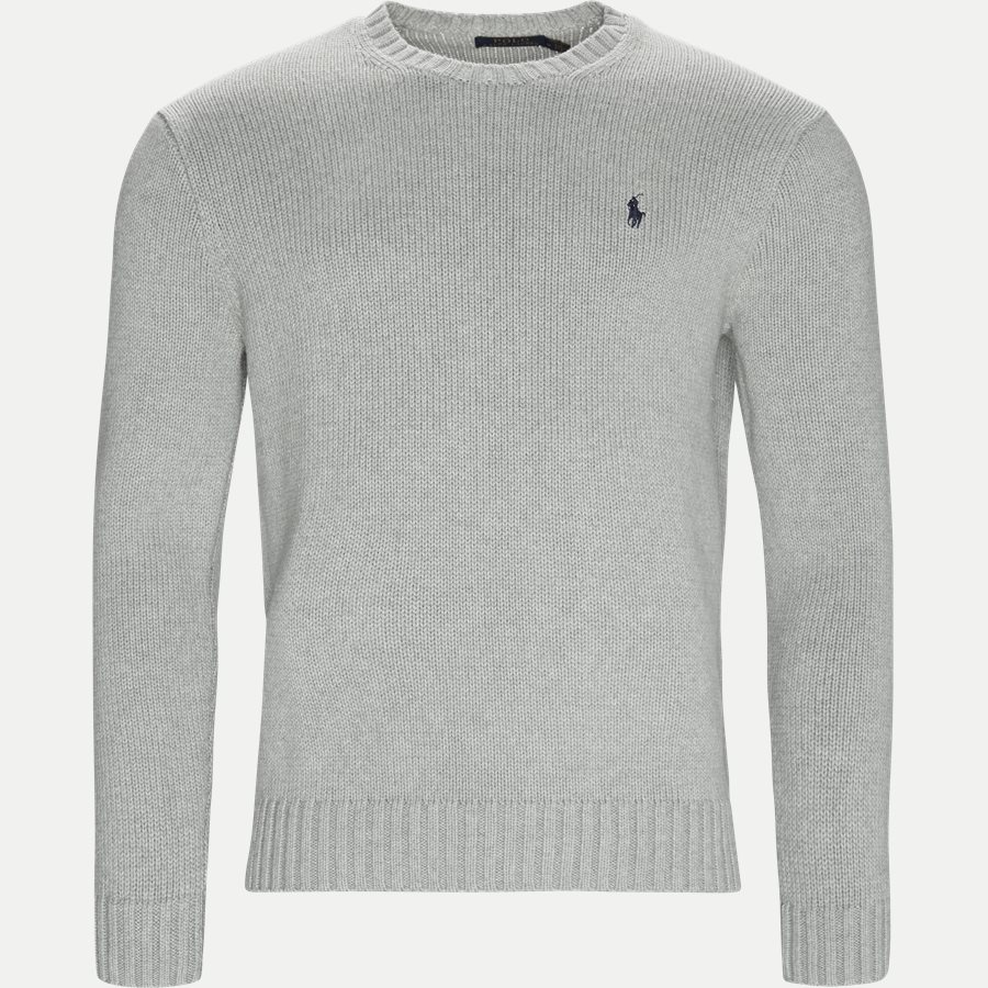 710727573 - Crew Neck Jumper - Strik - Regular - GRÅ - 1