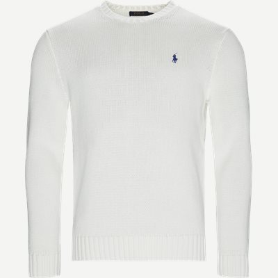 Crew Neck Jumper Regular | Crew Neck Jumper | Hvid