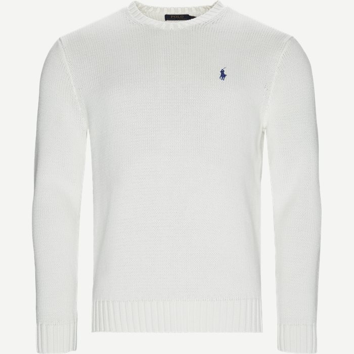 Crew Neck Jumper - Strik - Regular - Hvid