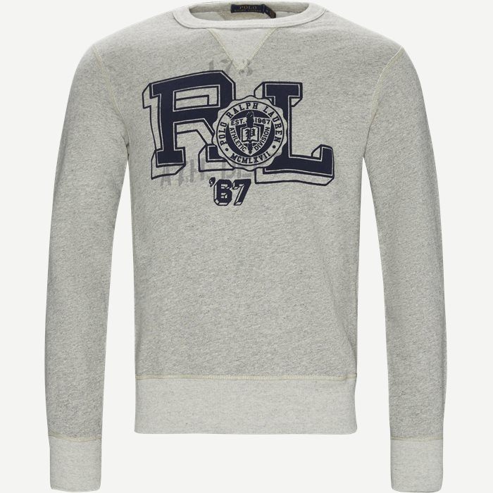 Fleece Graphic Sweatshirt - Sweatshirts - Regular - Grå