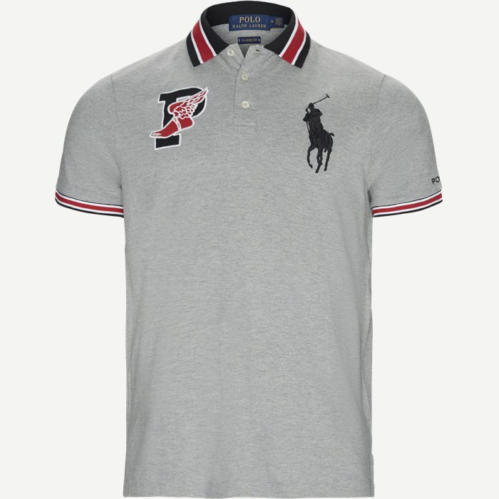 Wing Logo Polo Shirt - T-shirts - Regular - Grå
