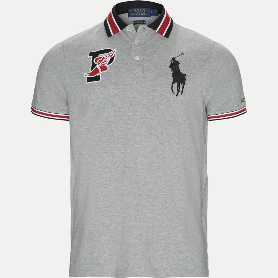 710740444 - Wing Logo Polo Shirt - T-shirts - Regular - GRÅ - 1