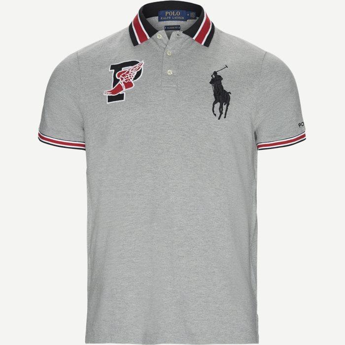 P-Wing Logo Polo Shirt - T-shirts - Regular - Grå
