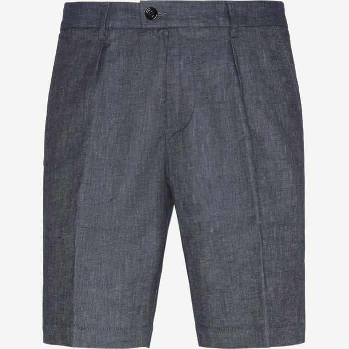 Slice Short Pleats Shorts - Shorts - Regular - Blå