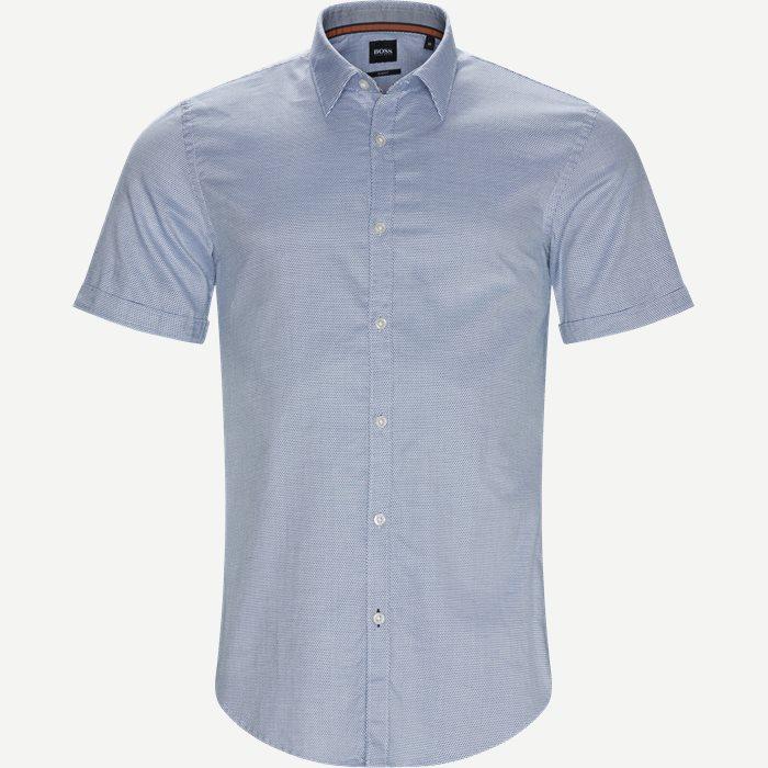 Ronn_2 Kortærmet Skjorte - Kortærmede skjorter - Slim - Blå