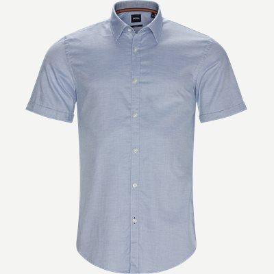 Ronn_2 Kortærmet Skjorte Slim | Ronn_2 Kortærmet Skjorte | Blå