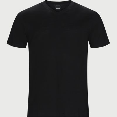 Tilson 100 V-neck T-shirt Regular | Tilson 100 V-neck T-shirt | Sort