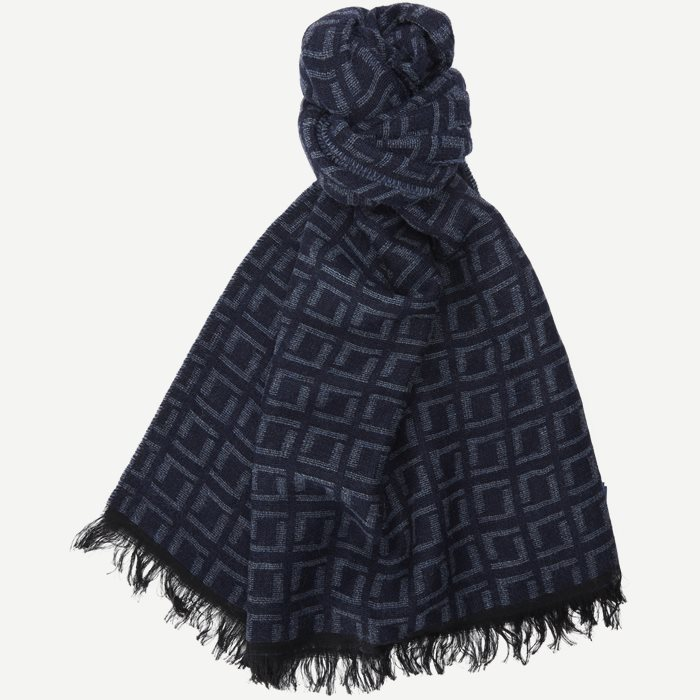 Square Scarf - Accessories - Blå