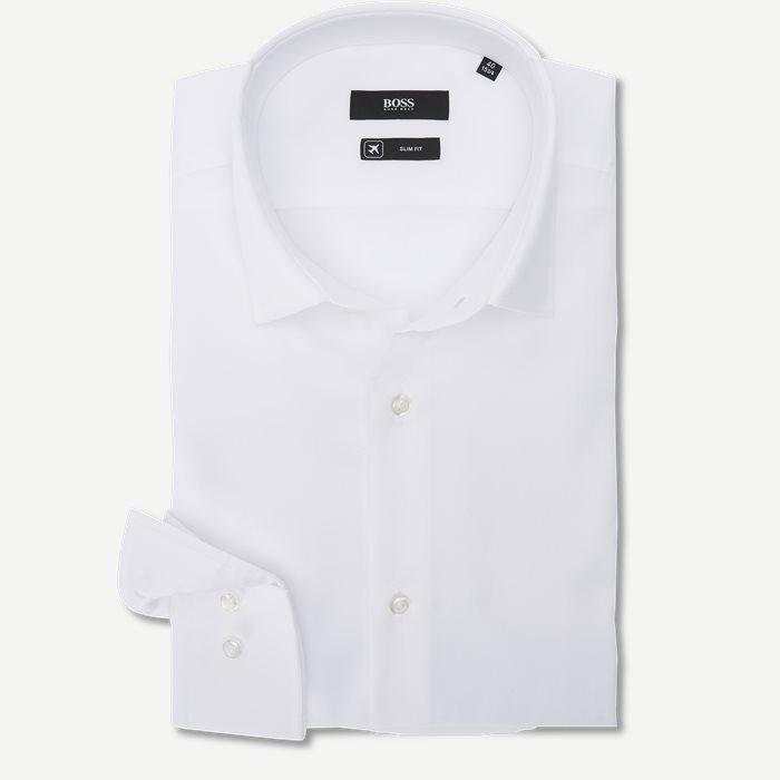 Jenno Skjorte - Skjorter - Slim - Hvid
