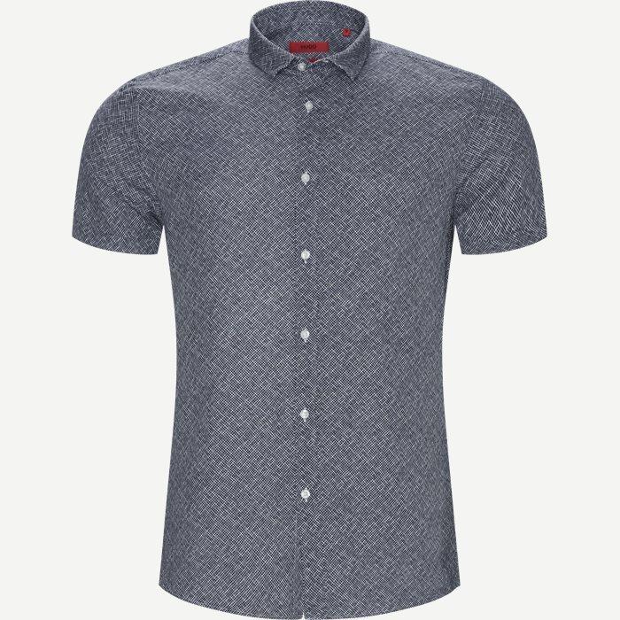Empson-W kortærmet skjorte - Kortærmede skjorter - Ekstra slim fit - Blå
