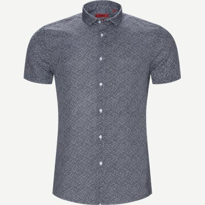 Empson-W kortærmet skjorte Ekstra slim fit | Empson-W kortærmet skjorte | Blå