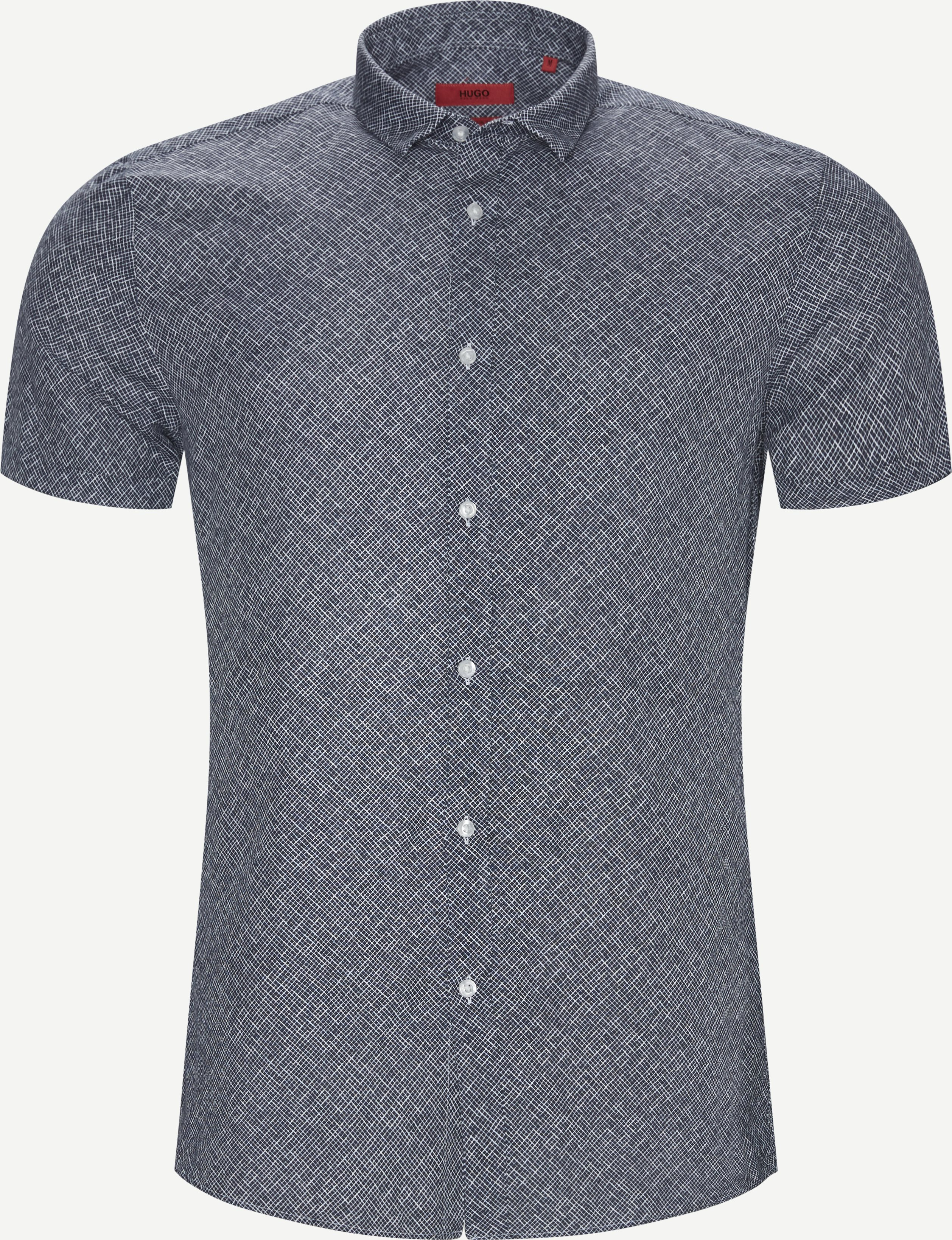 Short-sleeved shirts - Ekstra slim fit - Blue