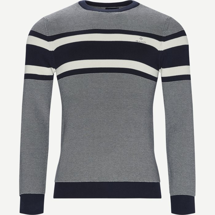 Breton Stripe Crew Knit - Strik - Regular - Blå